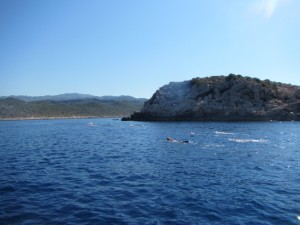 Swimming to Turkey from Greece