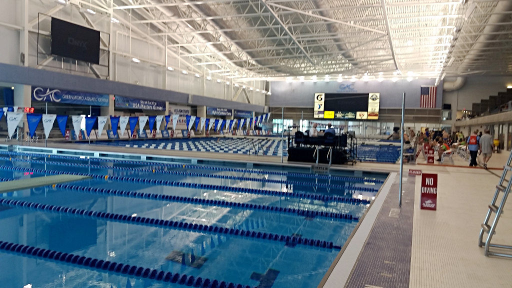 Greensboro Aquatic Center - the calm before the storm
