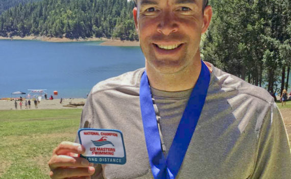 Mark Frost (CGM)—2016 US Masters 10km Open Water National Champion in 45-49 Age group, and 3rd overall Male.  In a time of 2hrs 29 mins.  Congratulations Mark!