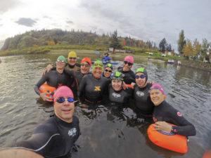 The few Diehards who were willing to swim 3000 meters