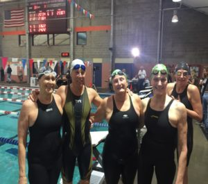 Hood River 200 M Medley Relay Team, 2016 - Joy Ward, Rebecca Kay, Janet Gettling, Sandi Rousseau 'Fearsome Four'