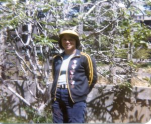 Rebecca Kay in Carmel, CA, after 1978 Nationals, San Antonio, TX