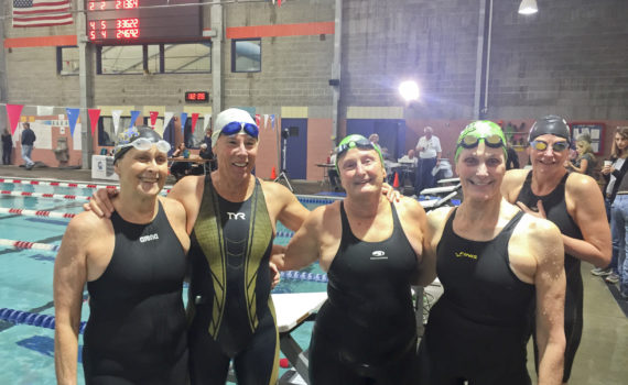 World Record 200 Medley Relay; Age group 280-319; Joy Ward, Rebecca Kay, Janet Gettling, Sandi Rousseau