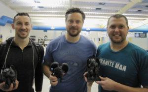 Adam Arzner (Middle Animal), Nicholas Arzner (Sprint Animal) and Matt Miller (Grand Animal)