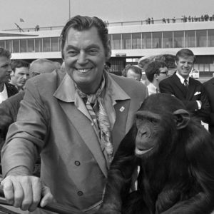 Johnny in 1970 with Cheeta the Chimpanzee