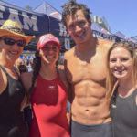 Nathan Adrian with Jill, Hailey and Jessica