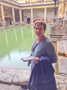 Jan Hildebrandt at the Roman baths in Bath, England