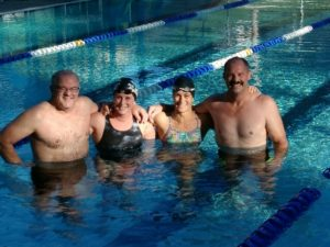 Mingus SOMA Swimmers L to R - Rod Cook, Jayna Tomac, Jen Feola, Chris Cook