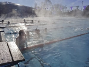 Outdoor swimming in January at Ella Redkey Pool in Klamath Falls