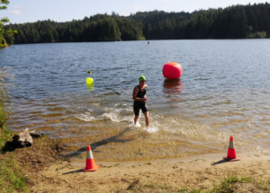 Finisher at Eel Lake Swim