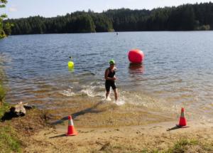 Finisher at Eel Lake Swim