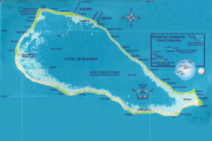 Avatoru, where the current carried Joe through the island chain from the ocean side of the island to the atoll side