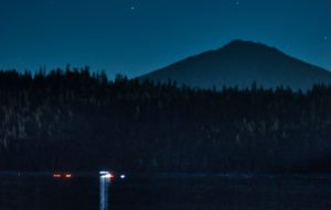 Elk Lake night swim