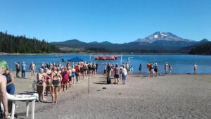 Elk Lake - Start of the 500