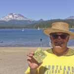 Tim Waud proudly displays his 1st place ceramic coaster award for the Elk Lake Short Series