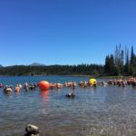 Ready for the start of the 2016 NW Zone 1500-meter Open Water Championships at Elk Lake