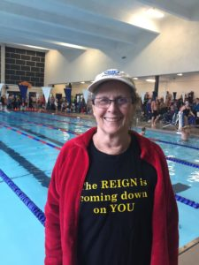 Joy Ward is happy about her swimming!