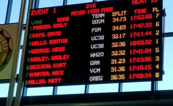 1500m free final heat results