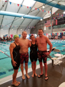 Arlene Delmage, James Adams, Colette Crabbe and Matt Miller set NW Zone record in mixed 800m freestyle relay
