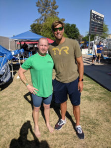 James Adams with Olympian Matt Grevers, who also swam at USMS Spring Nationals