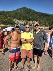 Christian Tujo, Coach Bob Bruce and Mike Dix