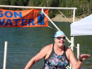 GPY swimmer Karen Whelden finishing her 1500