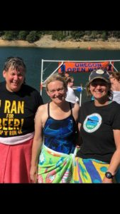 SOMA Swimmers Erika Schumacher, Kari May and Julie Hall