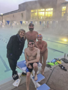 Grant Aldred and coaches-Karen Andrus-Hughes, Mike Self, Francie Haffner
