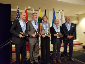 Rowdy Gaines, Rick Collela, Caroline Krattli, Willard Lamb and Dr. Jim Miller - 2019 MISHOF Inductees