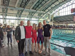 MAC swimmers at SPMS—Brent Washburne, Scot Sullivan, Lex Higlett, Jessica Stacy, Kurt Grote
