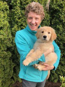 Valeri Jenkins with her new puppy