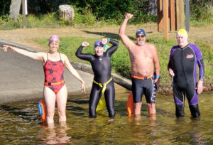 Cyndi Smidt, Laura Schob,Mike Carew, Ralph Mohr at Eel Lake