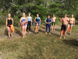 Eel Lake - Todd Lantry , Celeste Lantry, Ralph Mohr, Ed Ramsey, Rebecca Kay, Dave Radcliff, ? and Ann Cramer [kayak]