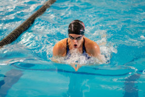 Meredith Weisshar in the pool, doing her favorite, and best stroke.