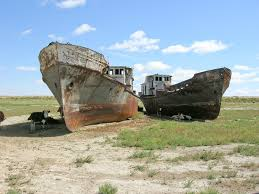 Ships in the Aral Sea