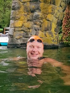 Swimming with OMS friends in Lake Oswego last summer