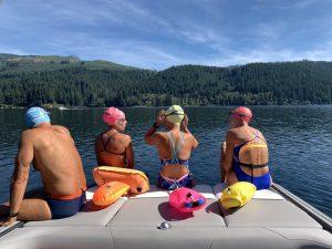 Doug Brockbank, Suzy Jajewski, Jayette Pettit, Beth Martell at Lake Merwin, WA