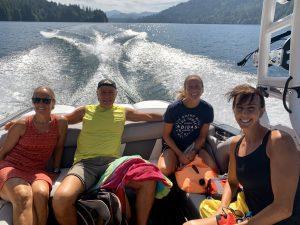 Jayette Pettit, Doug Brockbank, Suzy Jajewski, Beth Martell at Lake Merwin, WA